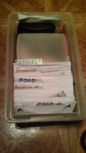 2nd and newest box organizer for alphabetization method.
