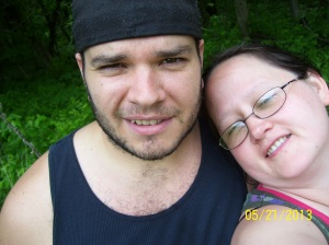 My hubby, looking so hunky. He looks so fantastic because he works out so much...Insanity, running, hiking.